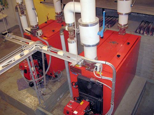 Монтаж системы отопления в котельной