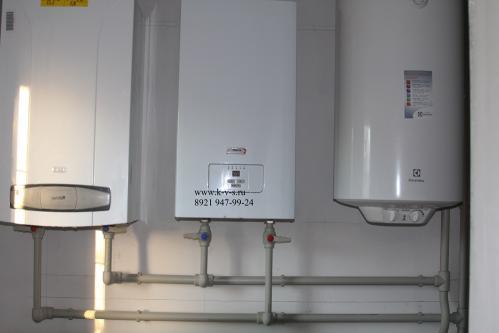 Газовый котел, бойлер - система отопления 2