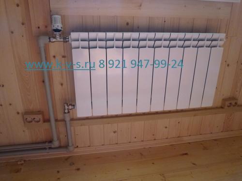 Подключение радиаторов отопления снизу с терморегулятором