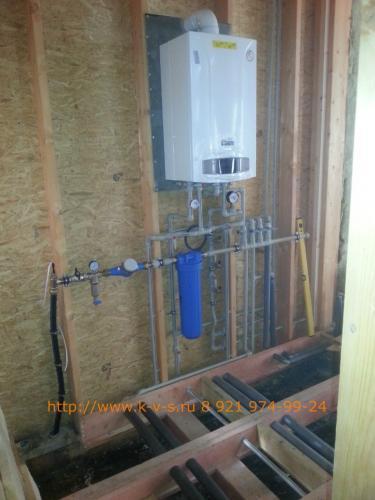 Установка газового котла и запуск системы отопления